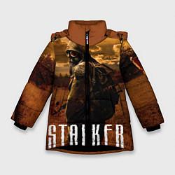 Куртка зимняя для девочки STALKER: Radiation цвета 3D-черный — фото 1