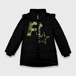 Куртка зимняя для девочки Rockstar цвета 3D-черный — фото 1