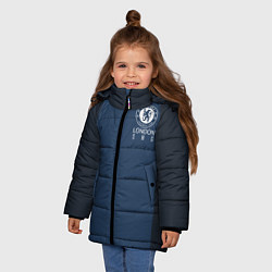 Куртка зимняя для девочки Chelsea FC: London SW6 цвета 3D-черный — фото 2