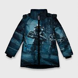 Куртка зимняя для девочки Halo wars цвета 3D-черный — фото 1
