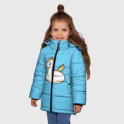 Куртка зимняя для девочки Единорог цвета 3D-черный — фото 2
