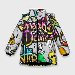 Куртка зимняя для девочки Break Show Dance цвета 3D-черный — фото 1