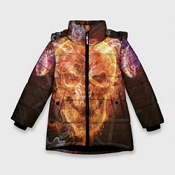 Куртка зимняя для девочки Дьявол цвета 3D-черный — фото 1