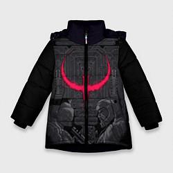 Куртка зимняя для девочки Quake champions цвета 3D-черный — фото 1