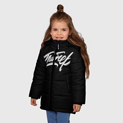 Куртка зимняя для девочки Чисто Питер цвета 3D-черный — фото 2