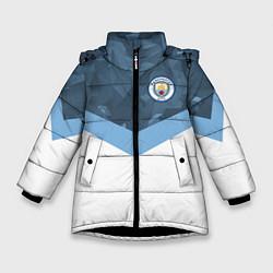 Детская зимняя куртка для девочки с принтом Manchester City FC: Sport, цвет: 3D-черный, артикул: 10137034906065 — фото 1