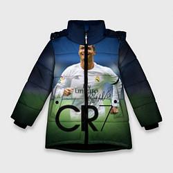Куртка зимняя для девочки CR7 цвета 3D-черный — фото 1