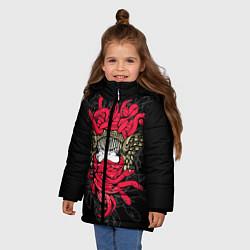 Куртка зимняя для девочки Горгона Медуза - фото 2