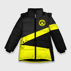 Куртка зимняя для девочки FC Borussia: Sport Geometry цвета 3D-черный — фото 1