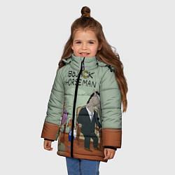 Куртка зимняя для девочки BoJack Horseman цвета 3D-черный — фото 2
