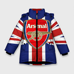 Куртка зимняя для девочки FC Arsenal: England цвета 3D-черный — фото 1