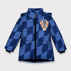 Куртка зимняя для девочки Сборная Хорватии цвета 3D-черный — фото 1