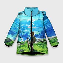 Куртка зимняя для девочки Z-Link цвета 3D-черный — фото 1