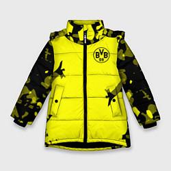 Куртка зимняя для девочки FC Borussia Dortmund: Yellow Original цвета 3D-черный — фото 1