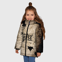 Куртка зимняя для девочки Muse: the 2nd law цвета 3D-черный — фото 2