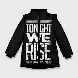 Куртка зимняя для девочки Skillet: We Rise цвета 3D-черный — фото 1