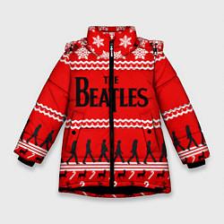 Куртка зимняя для девочки The Beatles: New Year цвета 3D-черный — фото 1