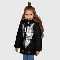 Куртка зимняя для девочки Eminem B&G цвета 3D-черный — фото 2