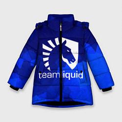 Куртка зимняя для девочки Team Liquid: Polygons цвета 3D-черный — фото 1