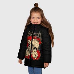 Куртка зимняя для девочки Metallica Skull цвета 3D-черный — фото 2