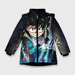 Детская зимняя куртка для девочки с принтом My Hero Academia, цвет: 3D-черный, артикул: 10144528706065 — фото 1