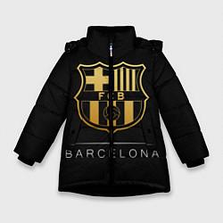 Куртка зимняя для девочки Barcelona Gold Edition цвета 3D-черный — фото 1