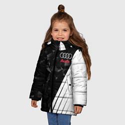 Куртка зимняя для девочки Audi: Black Poly цвета 3D-черный — фото 2