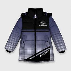 Куртка зимняя для девочки SUBARU SPORT цвета 3D-черный — фото 1