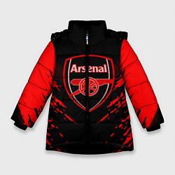 Куртка зимняя для девочки Arsenal FC: Sport Fashion цвета 3D-черный — фото 1