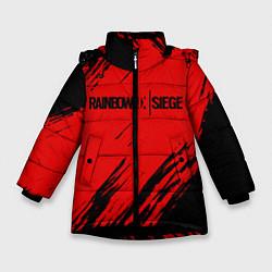 Куртка зимняя для девочки R6S: Red Style цвета 3D-черный — фото 1