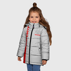 Куртка зимняя для девочки Toyota: Silver Sport цвета 3D-черный — фото 2