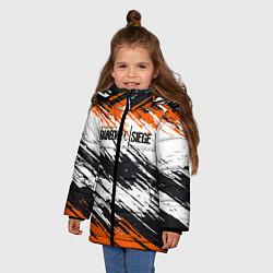 Куртка зимняя для девочки Rainbow Six Siege: Orange цвета 3D-черный — фото 2