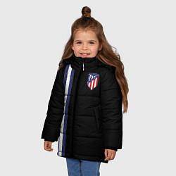 Куртка зимняя для девочки FC Atletico Madrid: Blue Line цвета 3D-черный — фото 2