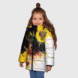 Куртка зимняя для девочки Имперский медведь цвета 3D-черный — фото 2