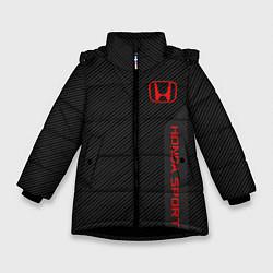 Куртка зимняя для девочки Honda: Sport Line цвета 3D-черный — фото 1