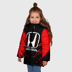 Куртка зимняя для девочки Honda: Red Anger цвета 3D-черный — фото 2