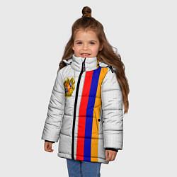 Куртка зимняя для девочки I Love Armenia цвета 3D-черный — фото 2