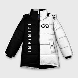 Куртка зимняя для девочки Infiniti: Black & White цвета 3D-черный — фото 1