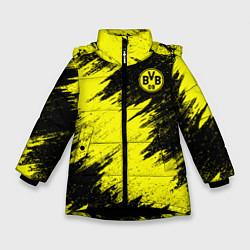 Куртка зимняя для девочки FC Borussia Dortmund цвета 3D-черный — фото 1