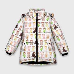 Куртка зимняя для девочки MONSTA X 10 цвета 3D-черный — фото 1