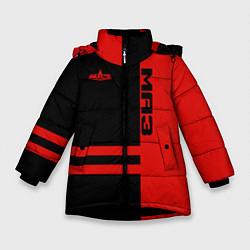 Куртка зимняя для девочки МАЗ цвета 3D-черный — фото 1