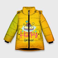 Куртка зимняя для девочки Happy Birthday - фото 1