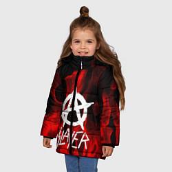 Куртка зимняя для девочки Slayer Flame цвета 3D-черный — фото 2