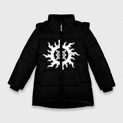 Куртка зимняя для девочки Звезда Руси цвета 3D-черный — фото 1