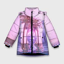 Куртка зимняя для девочки Digital Miami цвета 3D-черный — фото 1