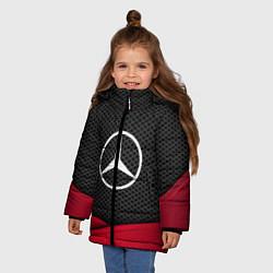 Куртка зимняя для девочки Mercedes Benz: Grey Carbon цвета 3D-черный — фото 2