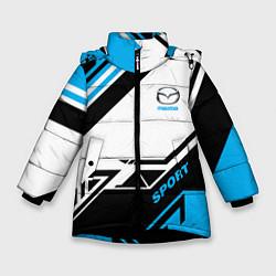 Детская зимняя куртка для девочки с принтом Mazda: Techno Sport, цвет: 3D-черный, артикул: 10152657106065 — фото 1