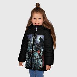 Куртка зимняя для девочки Uncharted 4 цвета 3D-черный — фото 2