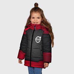 Куртка зимняя для девочки Volvo: Metal Sport цвета 3D-черный — фото 2