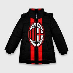 Куртка зимняя для девочки AC Milan 1899 цвета 3D-черный — фото 1
